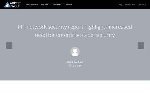 HP network security report highlights increased need for enterprise cybersecurity | Arctic Wolf