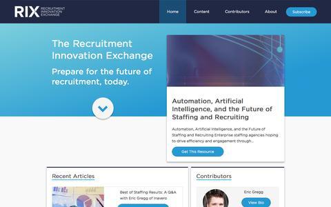 Home - Recruitment Innovation Exchange