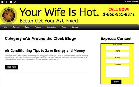 Screenshot of Blog atcair.com - Air Around the Clock Blog Archives - Your Wife Is Hot. - captured Oct. 7, 2017