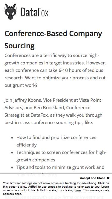 Conference-Based Company Sourcing