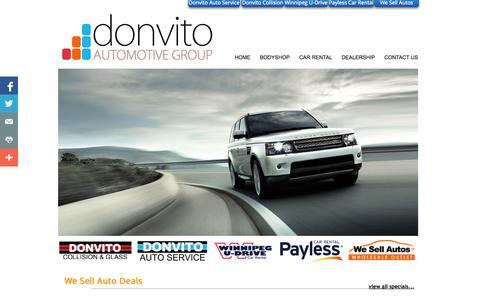 Screenshot of Home Page donvitogroup.com - Home - captured Feb. 6, 2015