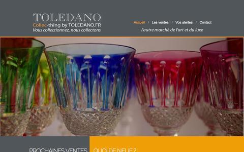 Screenshot of Home Page toledano.fr - Home - Ventes aux enchères - Hôtel des Ventes Toledano à Arcachon - captured Oct. 7, 2014