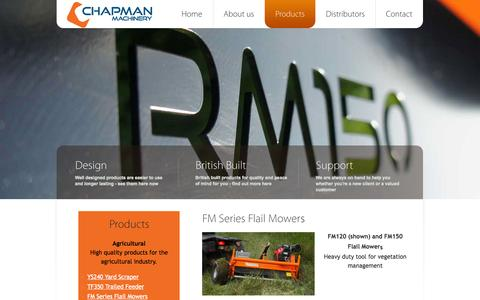 Screenshot of Products Page chapman.co.uk - Products - Chapman Machinery - captured Oct. 2, 2014