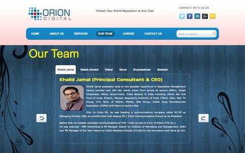 Screenshot of Team Page oriondigital.in - Digital Marketing agency in Bangalore | Digital Marketing agency in Delhi NCR | Social media agencies in bangalore - captured Oct. 26, 2014
