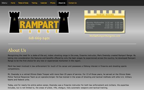 Screenshot of About Page rampartrangeinc.com - Shooting Range   Pocahontas, Illinios   Rampart Range, Inc. - captured Feb. 26, 2016