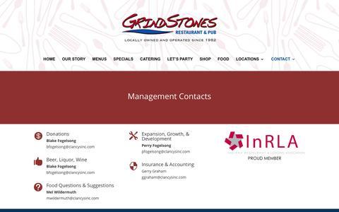 Screenshot of Team Page grindstonecharleys.com - Management - Grindstone Charleys - captured Dec. 15, 2015
