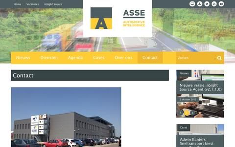 Screenshot of Contact Page asse.nl - Contact | ASSE BV - captured Feb. 5, 2016