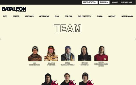 Screenshot of Team Page bataleon.com - Bataleon Snowboards - captured Oct. 5, 2014