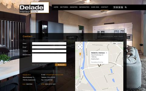 Screenshot of Contact Page delade.nl - Contact - Delade Interieur Bouw - captured Oct. 5, 2014
