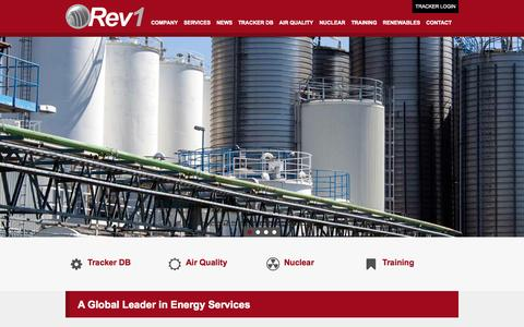 Screenshot of Home Page rev1ps.com - A Global Leader in Energy Services - Rev1 Power Services - captured Oct. 8, 2014