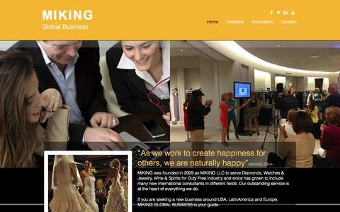 Screenshot of Home Page usmiking.com - usmiking2014 - captured Oct. 3, 2014