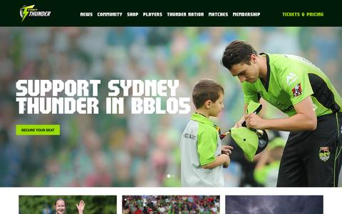 Screenshot of Home Page sydneythunder.com.au - Official Sydney Thunder Website | Sydney Thunder - BBL - captured Jan. 12, 2016