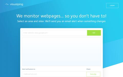 Website checker, website change detection, monitoring and alerts