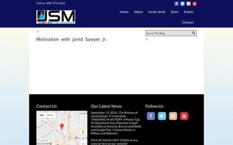 Screenshot of Blog jaredsawyerjr.com - Home - Official Website of Jared Sawyer Jr. - captured Feb. 1, 2017