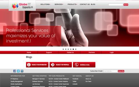 Screenshot of Blog glotexp.com - Blogs | Globe IT Experts - captured Jan. 30, 2016
