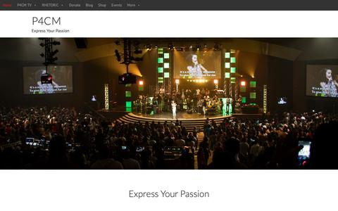 Screenshot of Home Page p4cm.com - P4CM | Passion for Christ Movement - Express Ur Passion 4 Christ - captured Sept. 27, 2018