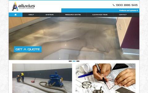 Screenshot of Home Page alluvius.com.au - Alluvius   Concrete Personified - captured Jan. 23, 2015