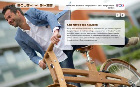 Screenshot of Home Page boughbikes.com.br - Seja movido pela natureza! - Bough Bikes - captured Jan. 28, 2015