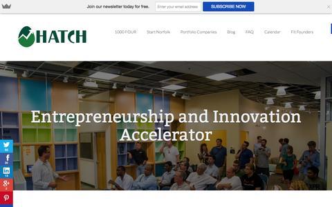 Screenshot of Home Page hatchnorfolk.com - Hatch- Accelerator in Norfolk, VAHatch Norfolk | Hatch Norfolk - captured Oct. 2, 2014
