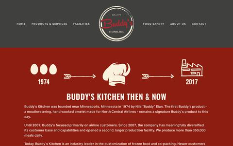 Screenshot of About Page buddyskitchen.com - About Us — buddy's kitchen - captured Oct. 11, 2017