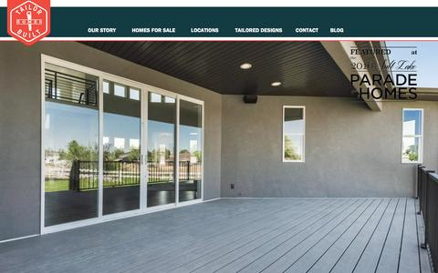 Screenshot of Home Page tailorbuilthomes.com - TAILOR BUILT | Home Page | Tailor Built Homes - captured Dec. 20, 2016