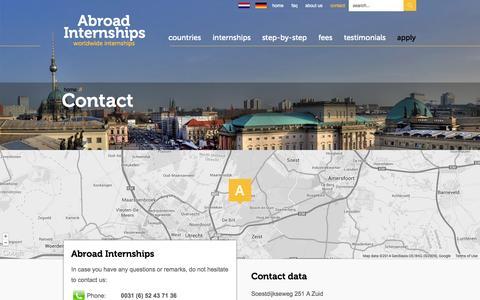 Screenshot of Contact Page abroad-internships.com - Abroad Internships| Abroad Internships - captured Sept. 30, 2014