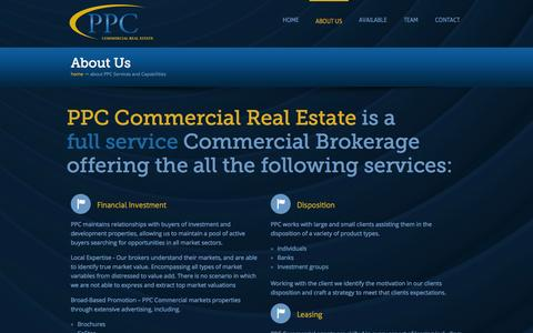 Screenshot of Services Page ppc-utah.com - PPC Services and Capabilities - PPC Utah Commercial Real Estate - captured Oct. 3, 2014
