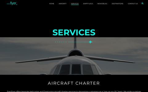 Screenshot of Services Page execflyer.com - Services - Execflyer - captured Dec. 15, 2018