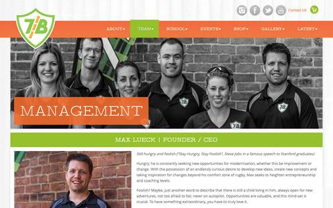 Screenshot of Team Page 7bamboosrugby.com - Management | 7 Bamboos Rugby - captured Dec. 11, 2018
