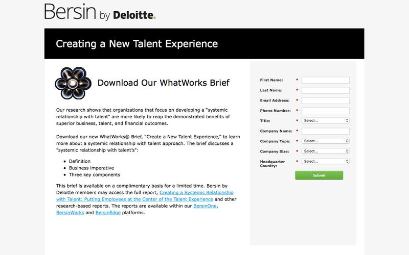 Create a New Talent Experience