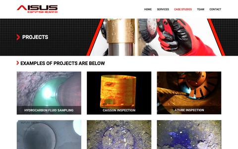Screenshot of Case Studies Page aisus-offshore.com - Aisus Offshore Aberdeen | Projects - captured Nov. 19, 2016
