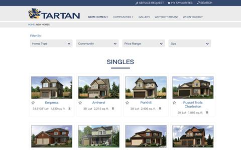 New Homes   Tartan Homes