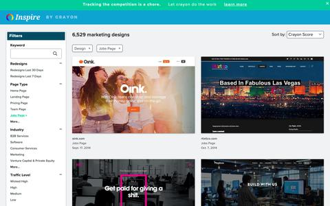 Screenshot of Jobs Page crayon.co - Design Jobs Pages | Website Inspiration and Examples | Crayon - captured April 25, 2019