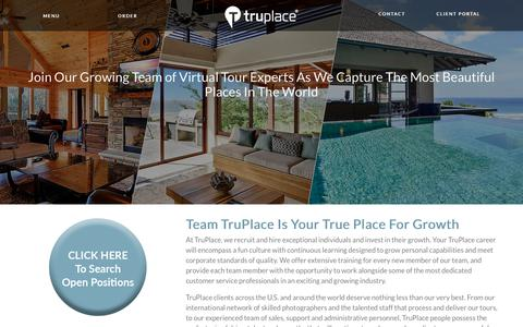 Screenshot of Jobs Page truplace.com - Start Your TruPlace Career Here - captured June 16, 2017