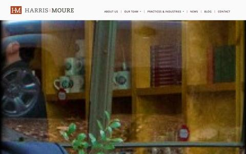 Screenshot of Team Page harrismoure.com - A Globally Recognized Law Firm | The Harris Moure Team - captured Sept. 29, 2014