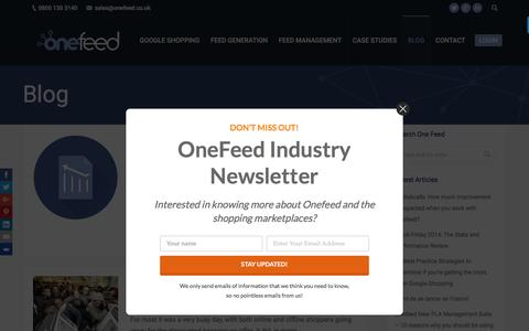 Screenshot of Blog onefeed.co.uk - Onefeed Blog – Feed Management News, Guides & Features - captured Aug. 13, 2016