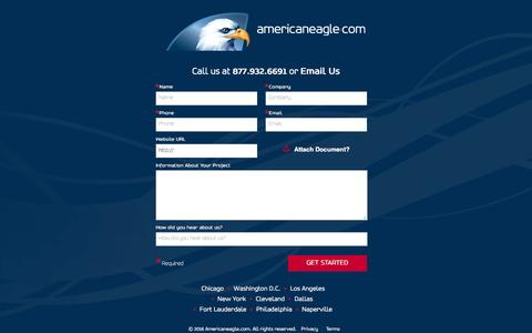 Screenshot of Landing Page americaneagle.com - Request a Quote - captured Aug. 20, 2016