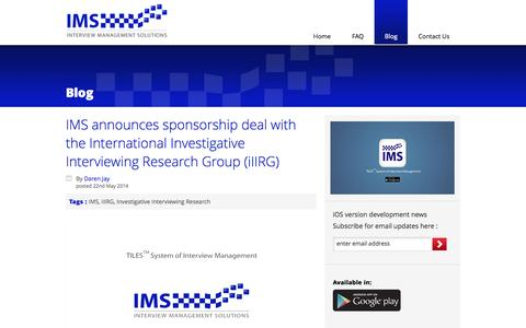 Screenshot of Blog interviewmanagementsolutions.com - IMS | Interview Management Solutions - captured Sept. 30, 2014