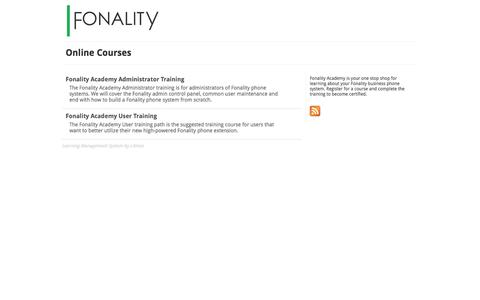 Fonality - Online Courses