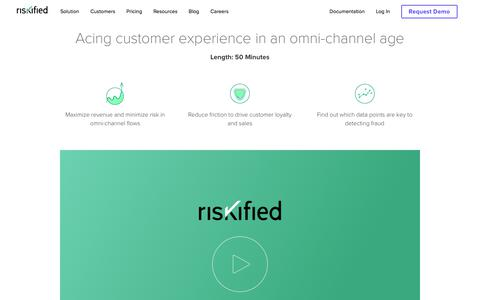 Screenshot of Case Studies Page riskified.com - Acing customer experience in an omni-channel age | Riskified - captured Feb. 20, 2020