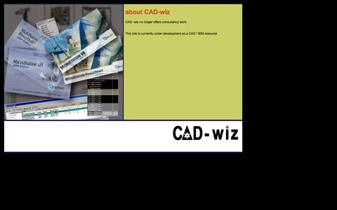 Screenshot of Home Page cad-wiz.co.uk - CAD-wiz - home: about - captured Dec. 6, 2015