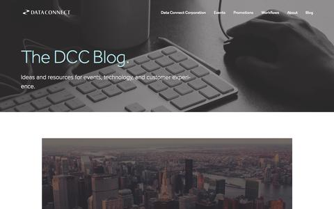 Screenshot of Blog dataconnectcorp.com - The DCC Blog. — Data Connect Corporation - captured Nov. 3, 2014