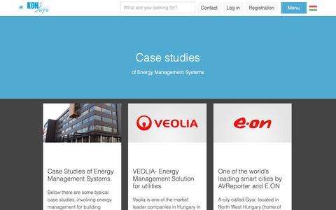 Screenshot of Case Studies Page konsys-international.com - Energy Management Software - Case Studies - captured Oct. 14, 2018