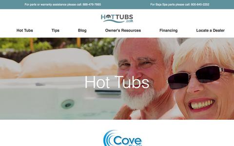 Screenshot of Products Page hottubs.com - Hot tub listings - captured Oct. 9, 2017