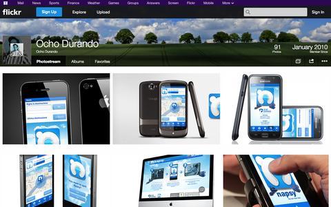 Screenshot of Flickr Page flickr.com - Flickr: Ocho Durando's Photostream - captured Oct. 26, 2014