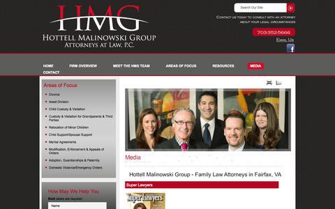 Screenshot of Press Page hottell.com - Media | Hottell Malinowski Group | Fairfax, Virginia - captured Oct. 3, 2014