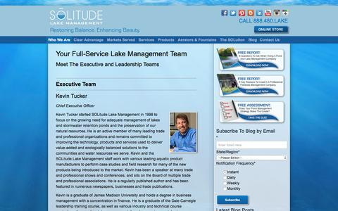 Screenshot of Team Page solitudelakemanagement.com - Your Full-Service Lake Management Team: Aquatic Ecology Experts - captured May 26, 2017