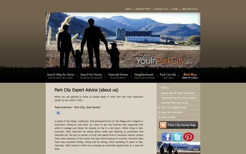 Screenshot of About Page youinparkcity.com - Park City Real Estate | Deer Valley Real Estate | Utah Homes Condominiums Land - captured Oct. 7, 2014