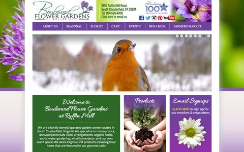 Screenshot of Home Page boulevardflowergardens.com - Boulevard Flower Gardens | Helping our community become successful gardeners! - captured Jan. 7, 2016