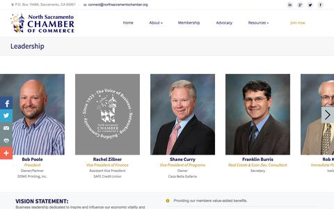 Screenshot of Team Page northsacramentochamber.org - North Sacramento Chamber of Commerce |   Leadership - captured Nov. 1, 2014
